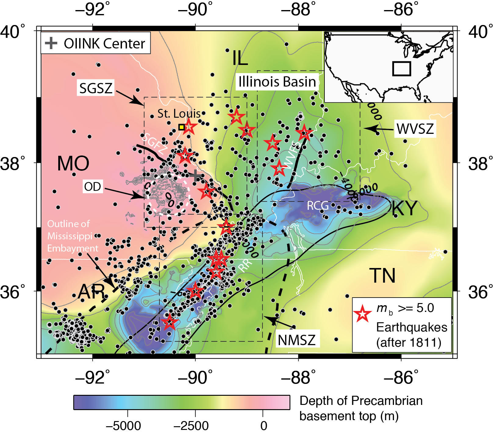 Geologists Record Widespread Activity On Ste. Genevieve ... on 1999 chamoli earthquake, seattle seismic map, yellowstone super volcano kill zone map, seismic map of america, seismic map of texas, seismic structure map, yellowstone seismic map, seismic map of the us, safety zone map, new madrid seismic zone, 2011 sikkim earthquake, ibc zip code map, gsa seismic map, 1934 bihar earthquake, canadian seismic map, seismic category map, anchorage seismic map, 2001 gujarat earthquake, mexico seismic map, seismic class map, canada seismic map, environmental zone map, yellowstone volcano blast zone map, ibc seismic map, seismic camp map,