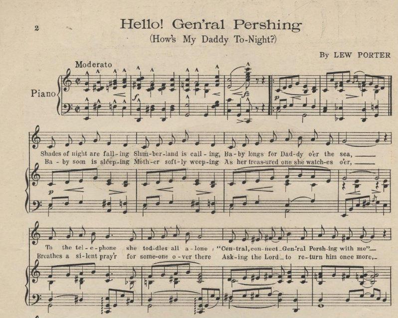 Piano hello piano sheet music : NIU Library Brings World War I Sheet Music To Life | NPR Illinois
