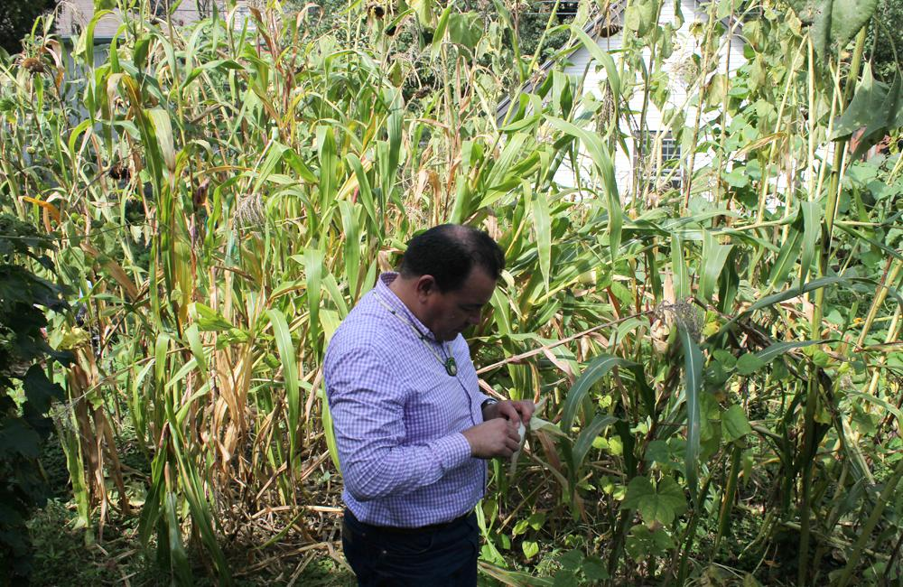 By Planting Corn, A Native American Man Hopes To Return To