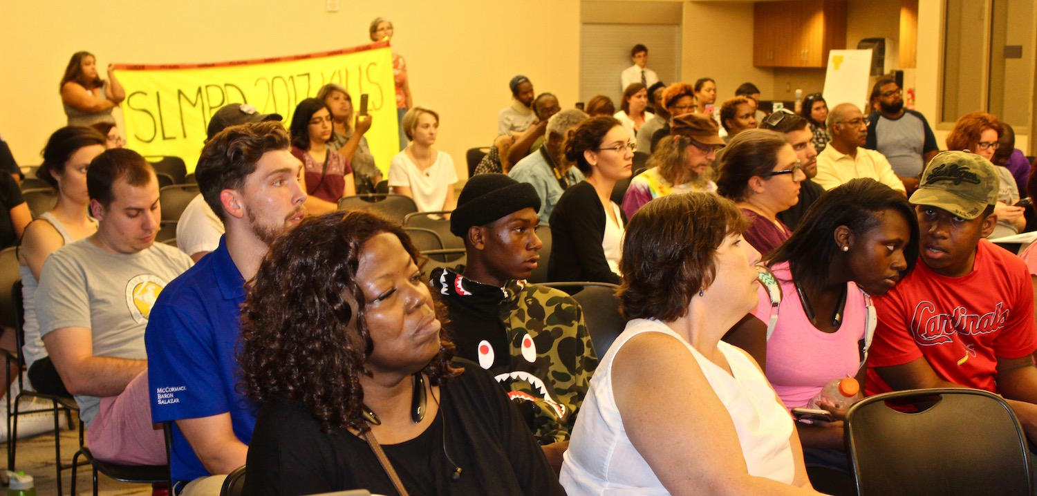 At town hall , residents urge St  Louis to hire 'reasonable chief