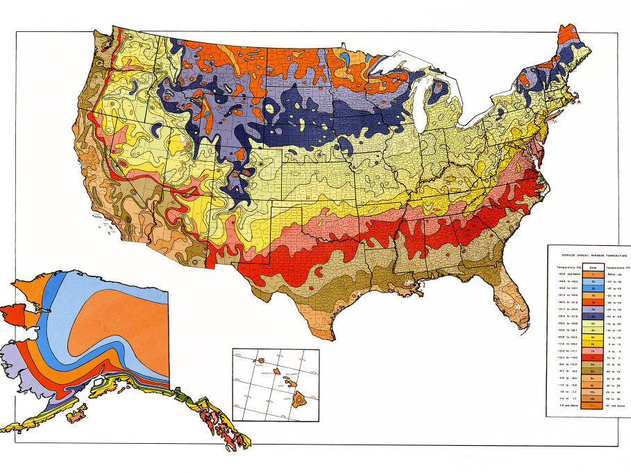 Gardening Map Of Warming U S Has Plant