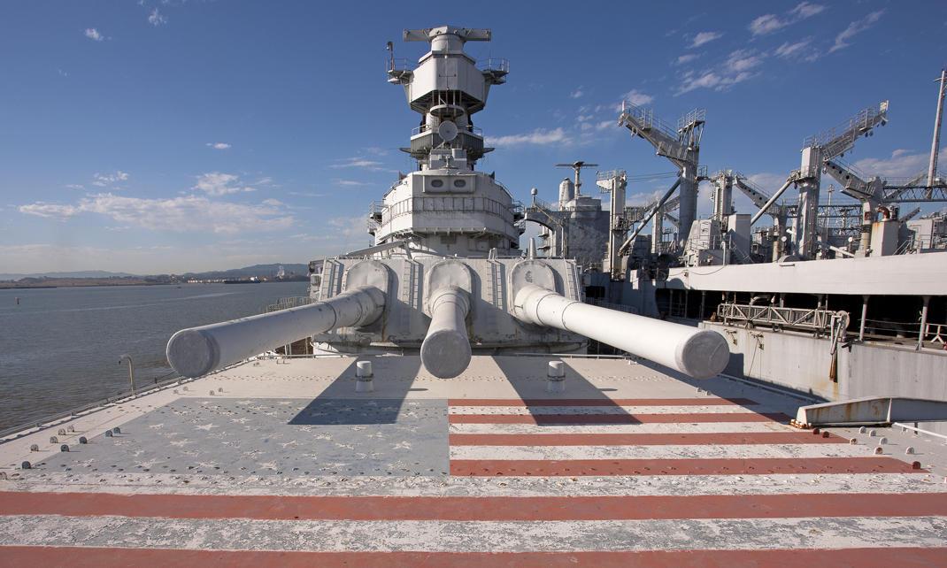 USS Iowa's Guns Are Now For Show | KACU 89 5