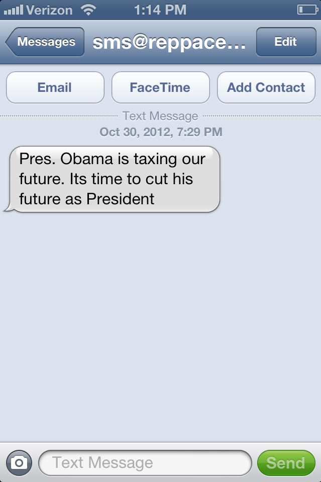 Mysterious Anti-Obama Spam Texts Linked To Republican Consulting