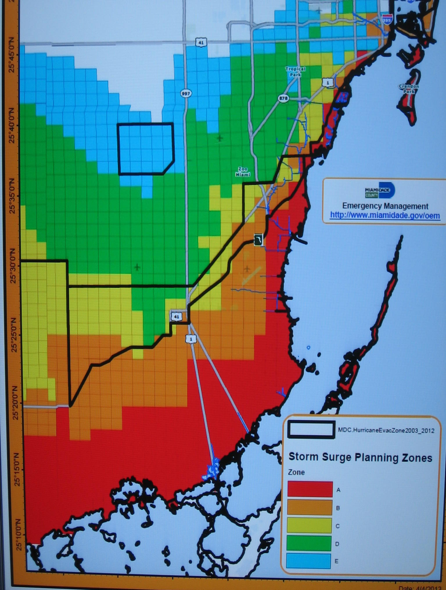 miami dade flood zone map Remapping Our Awareness Of Storm Surge Danger Wuwm miami dade flood zone map
