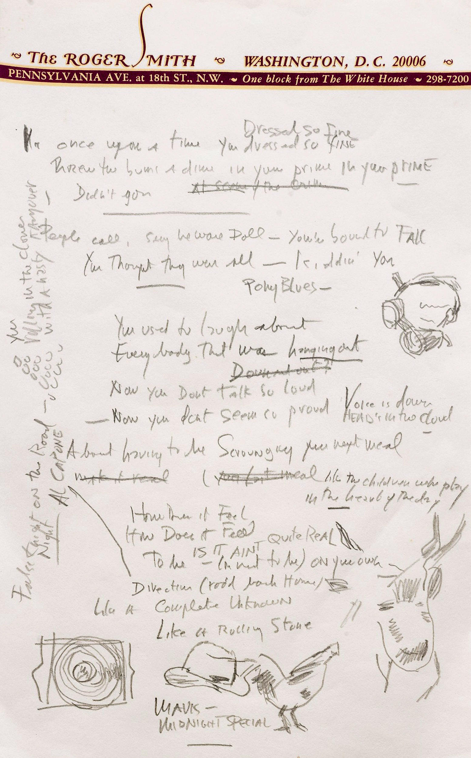 Draft Of Bob Dylan's 'Like A Rolling Stone' Sells For $2