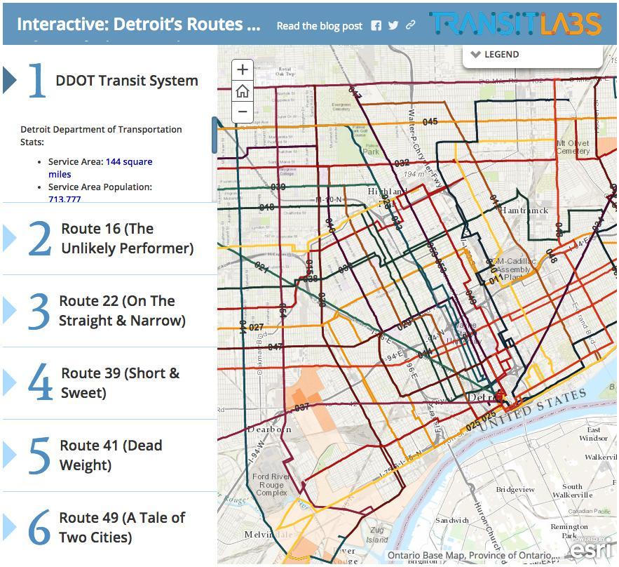 detroit public transportation map Apps Maps And Head Counts Transforming Public Transit 90 5 Wesa detroit public transportation map