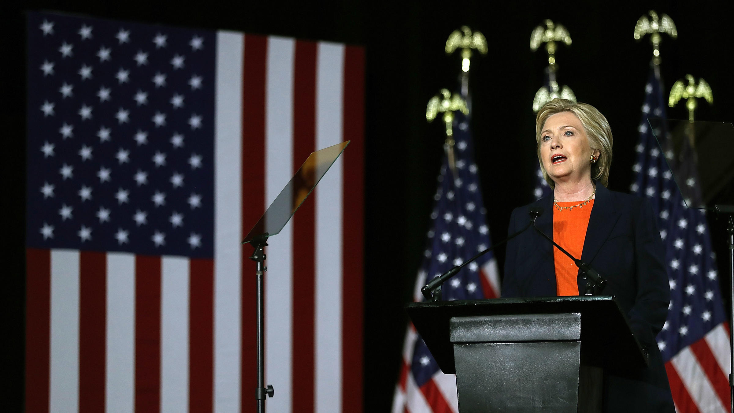 Democratic Presidential Candidate Hillary Clinton Delivered A National Security Sch In San Go That Harshly Criticized Republican Donald