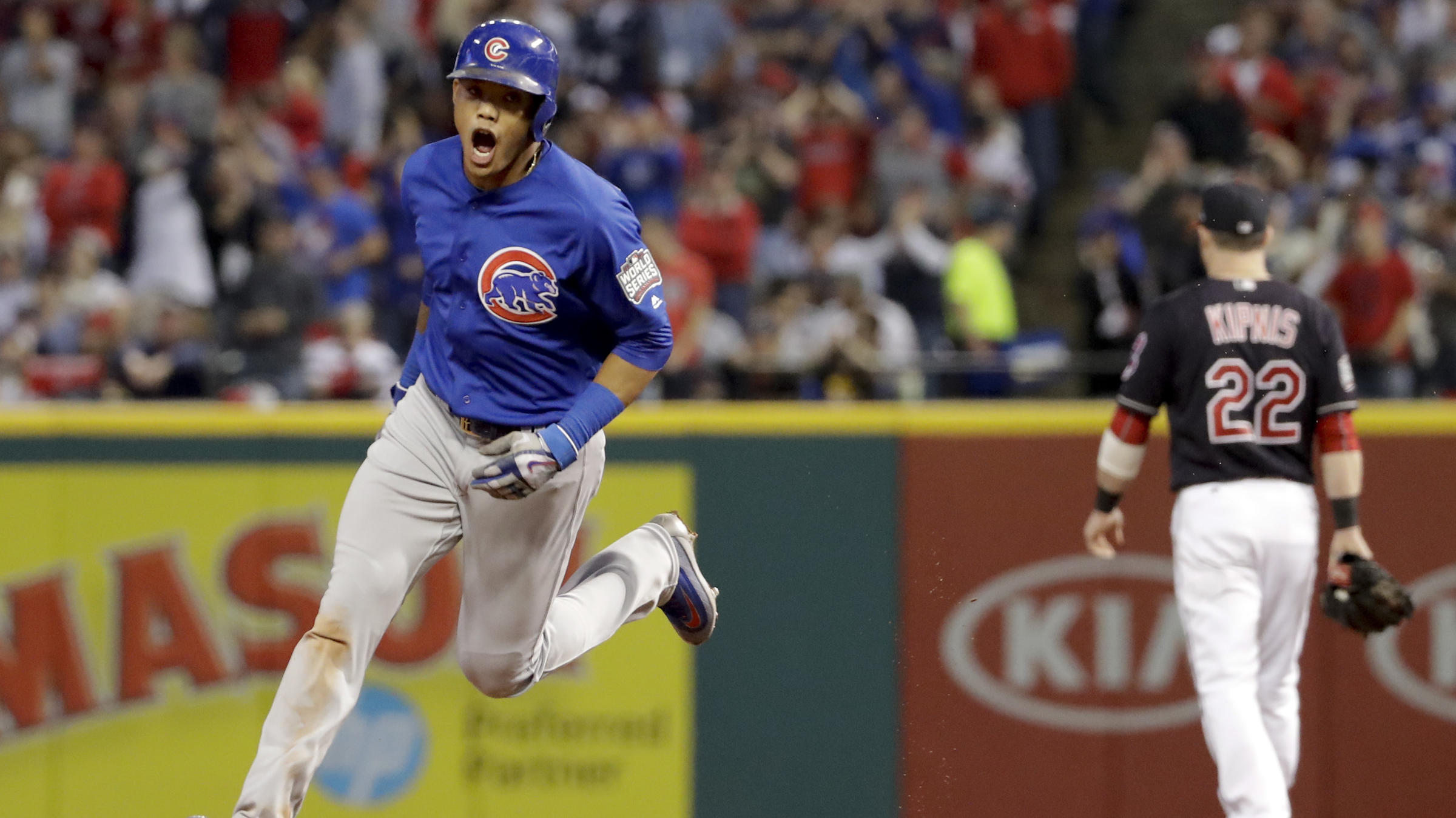 online retailer 19a65 7a850 Chicago Cubs Crush Cleveland Indians To Force A World Series ...