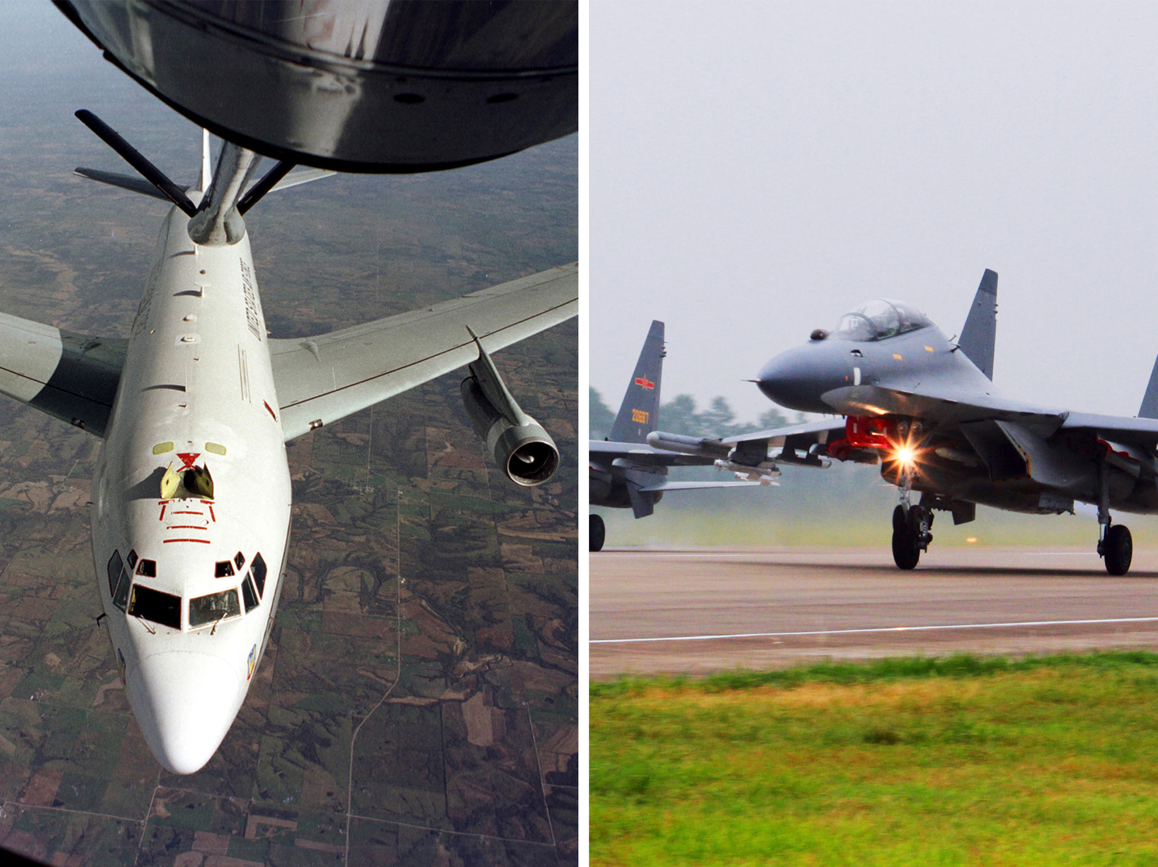 Chinese Fighter Jets Buzz U S  Air Force Plane Over East China Sea