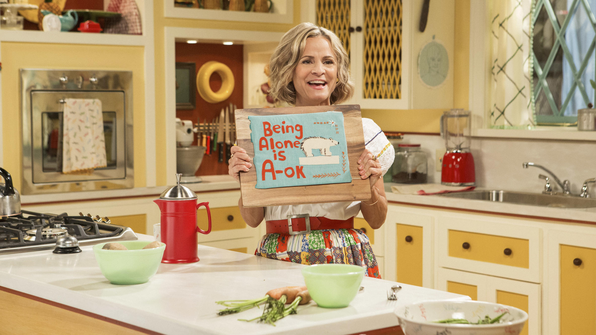 Amy Sedaris Kimmy Schmidt the best hostess gift? a pound of butter, says amy sedaris