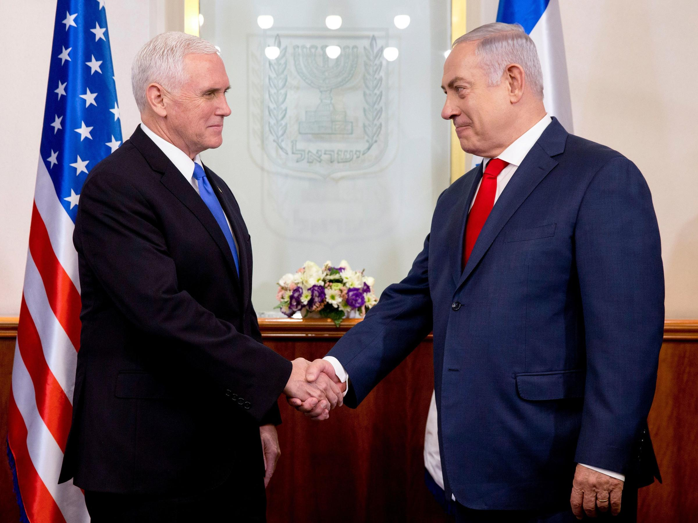Pence Draws Applause, Some Heckles, For U S  Embassy Move To