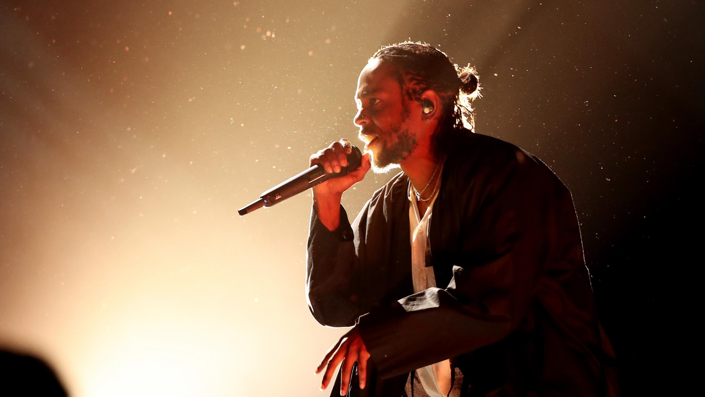 08863c67a57e Kendrick Lamar performs at the 60th Annual Grammy Awards at Madison Square  Garden in January.