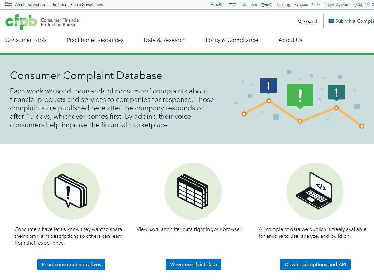 The Consumer Complaints Database That Could Disappear From