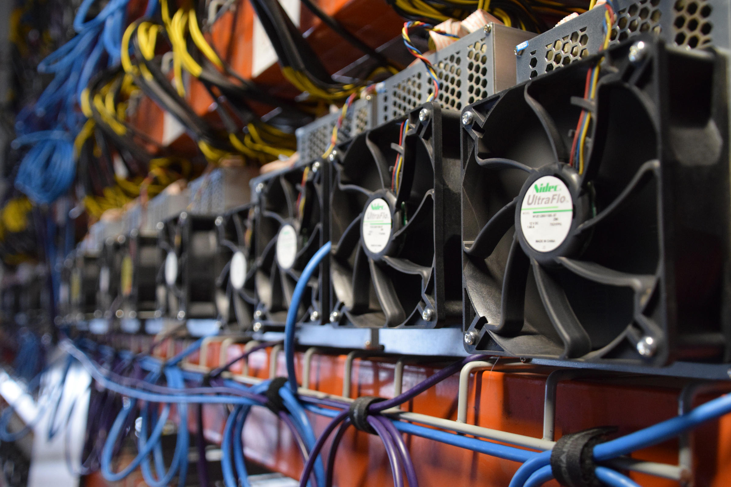 Cryptocurrency miner found at work