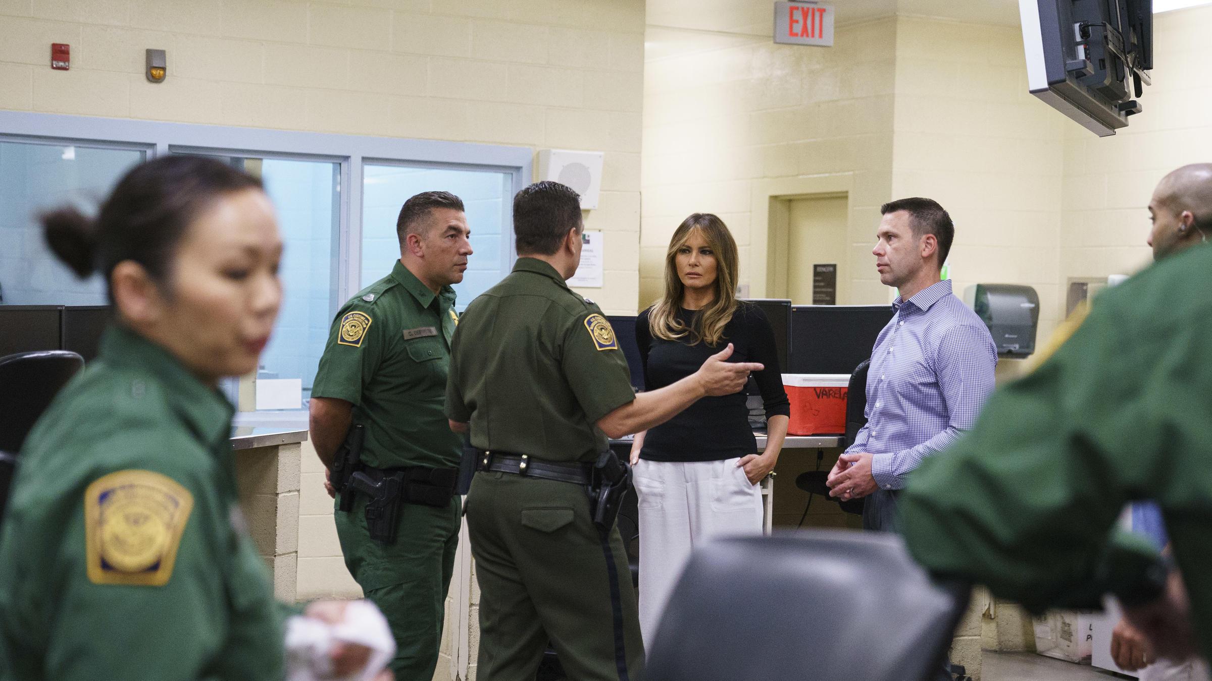 Melania Trump Travels To Arizona To Visit Migrant Detention