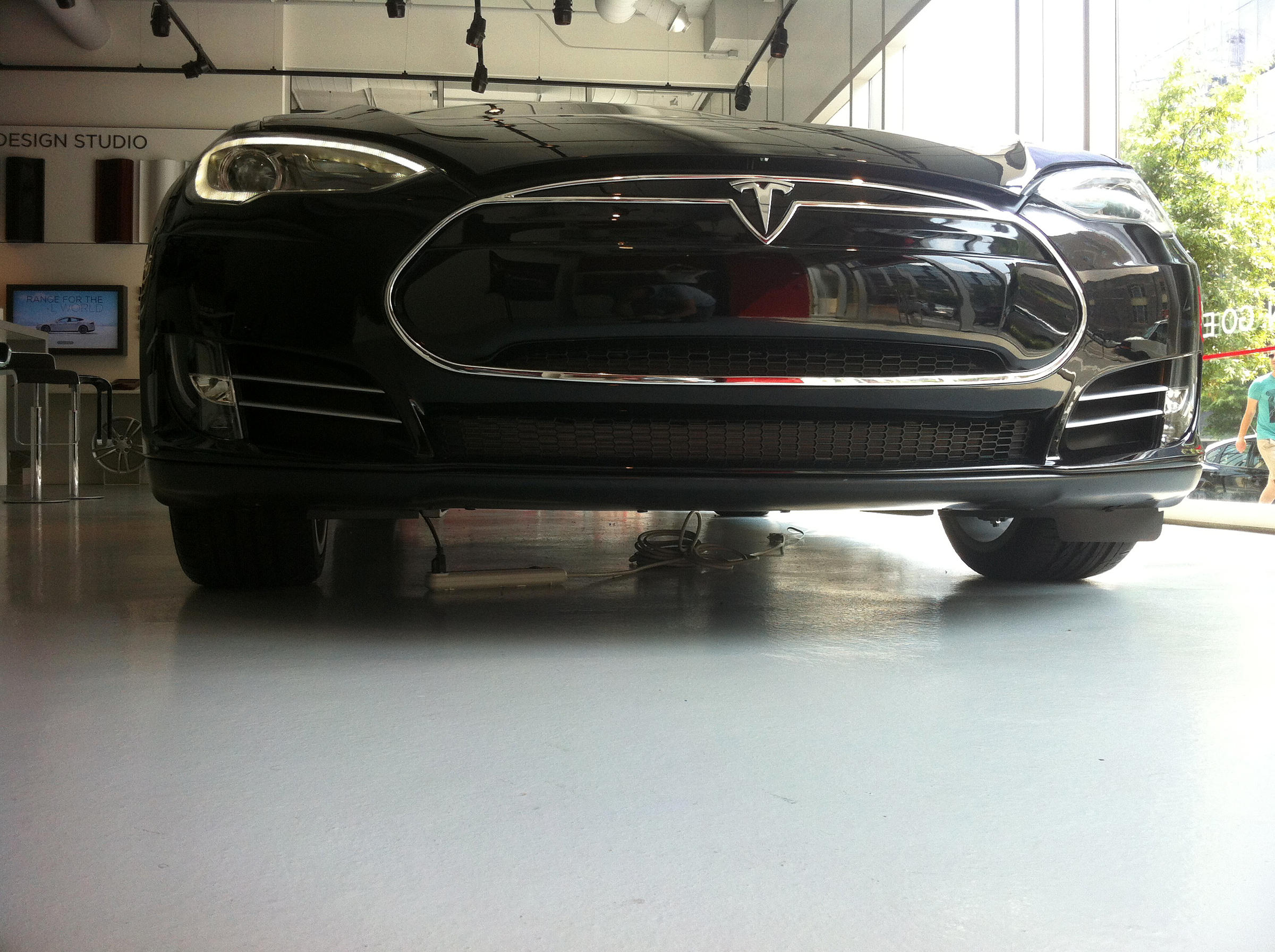 Tesla's New Electric Sedan: Five Passengers, 89 MPG, And No Engine