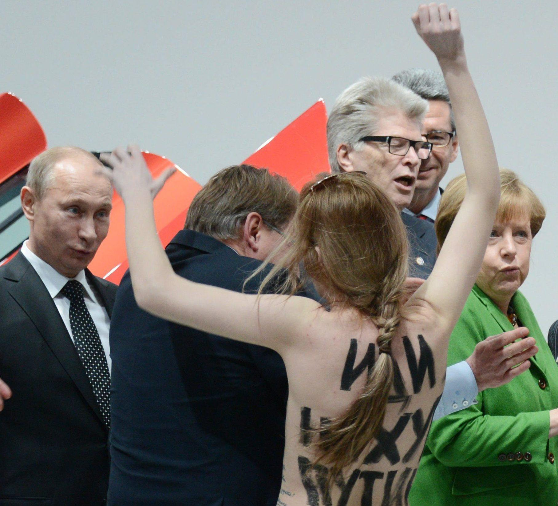Angela Merkel Topless i liked it,' putin says of protesttopless women   mtpr