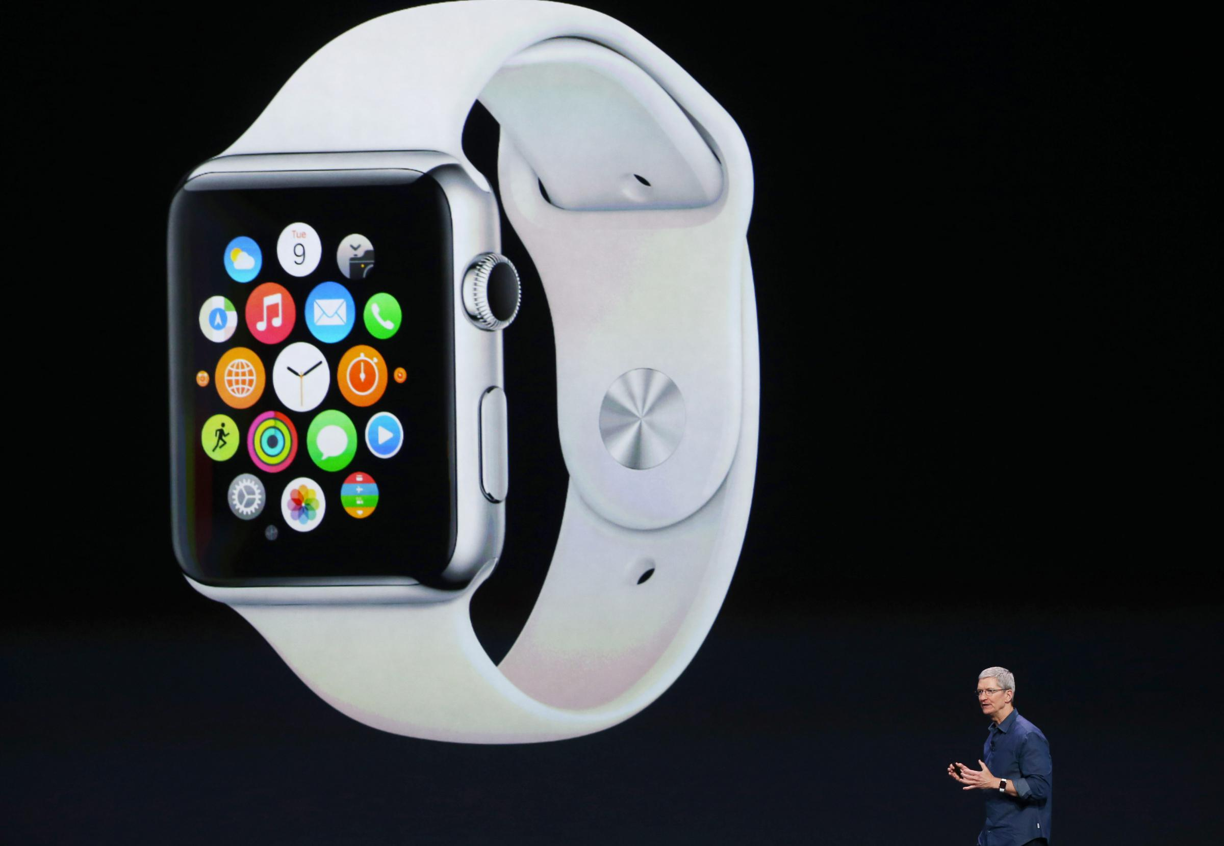 more photos 0fcb0 c53b6 Apple Shows Off Larger iPhone 6; Unveils New Apple Watch | KOSU