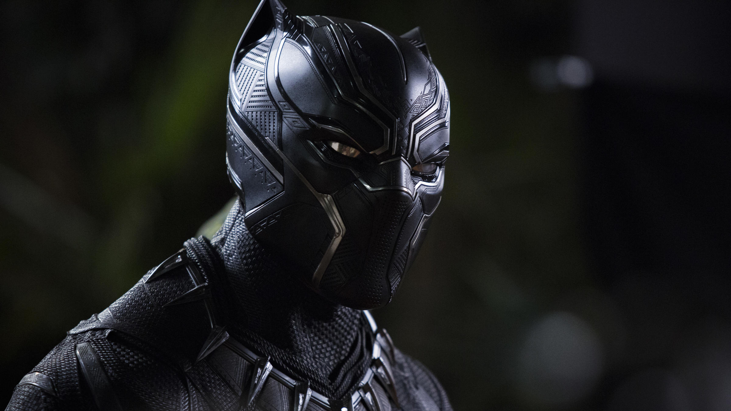 25f616930 The triangular patterns visible in Chadwick Boseman's Black Panther suit  reflect what costume designer Ruth Carter calls