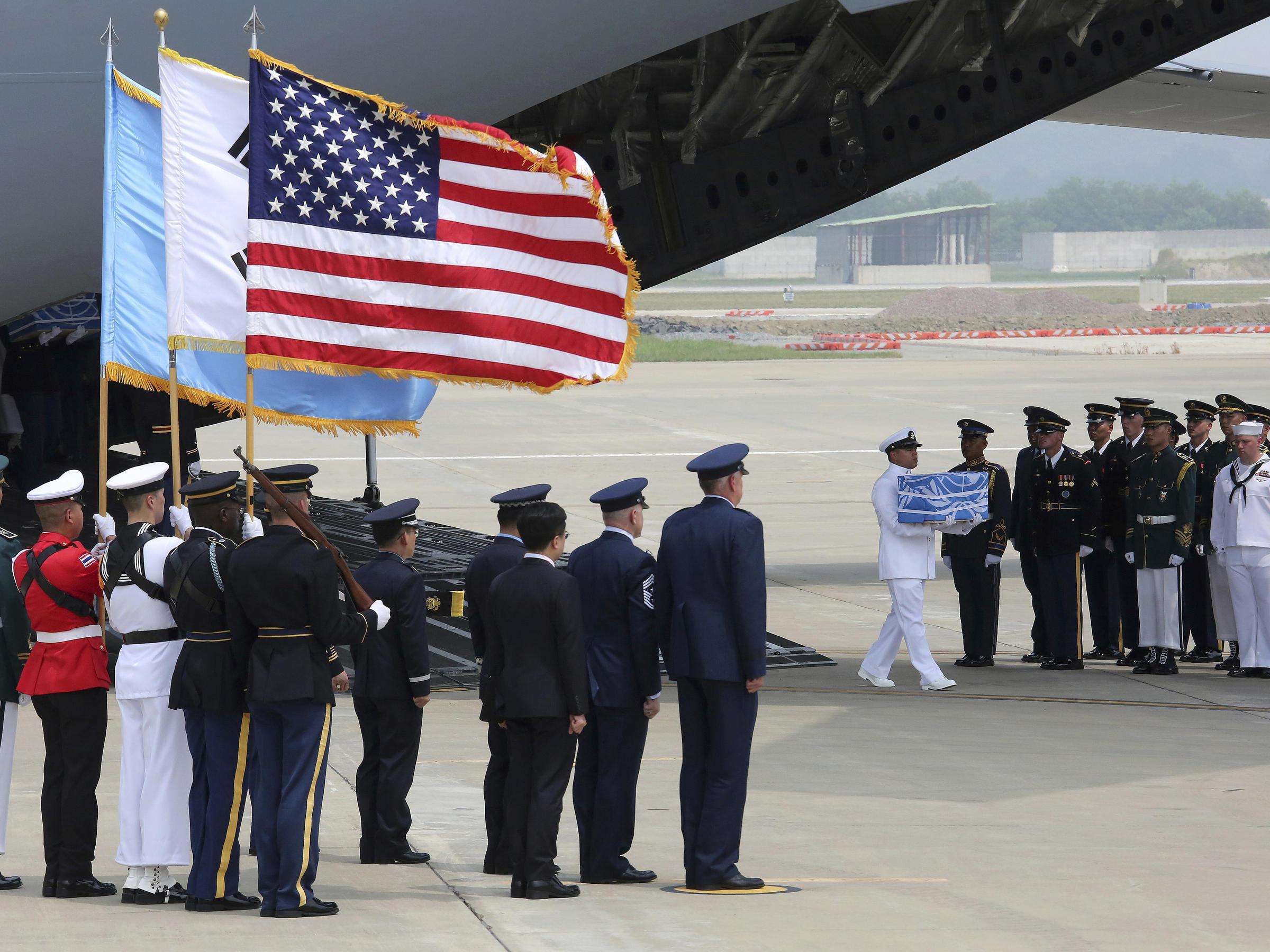 North Korea Hands Over Possible Remains Of U S  Servicemen