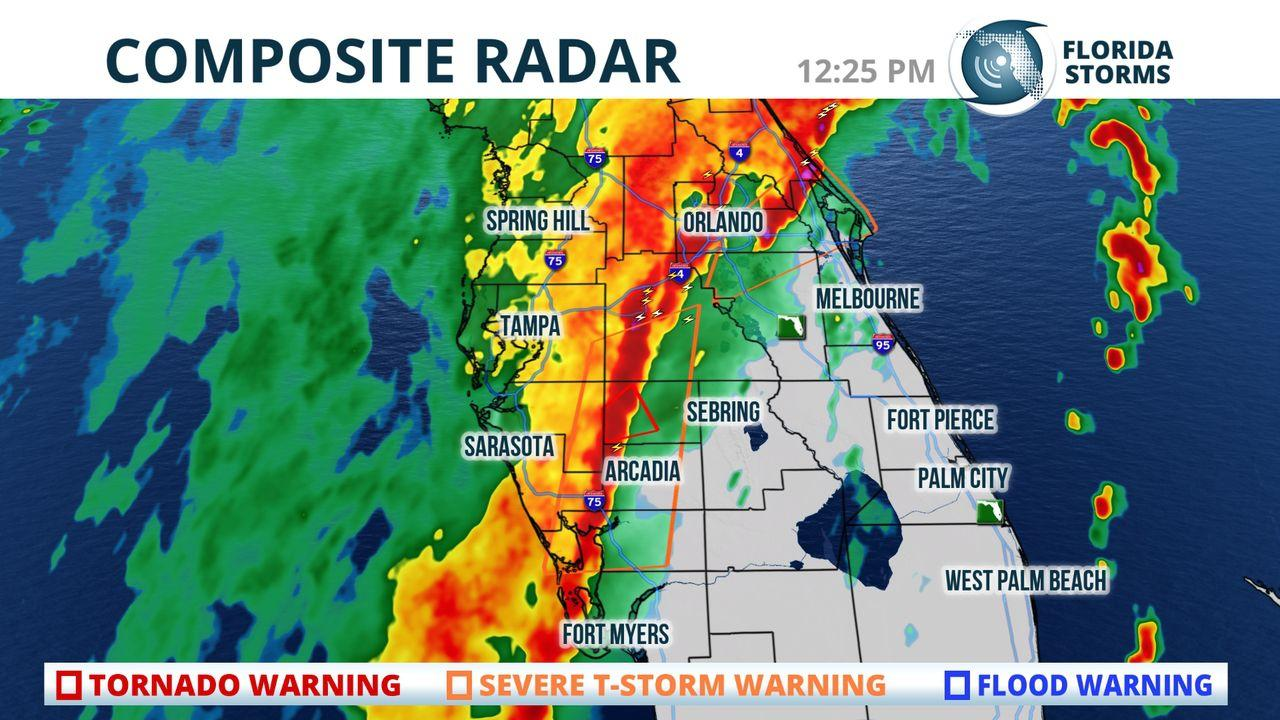 Tornado Risk, Wind And Rain Passing Through Tampa Bay, Most Of ...