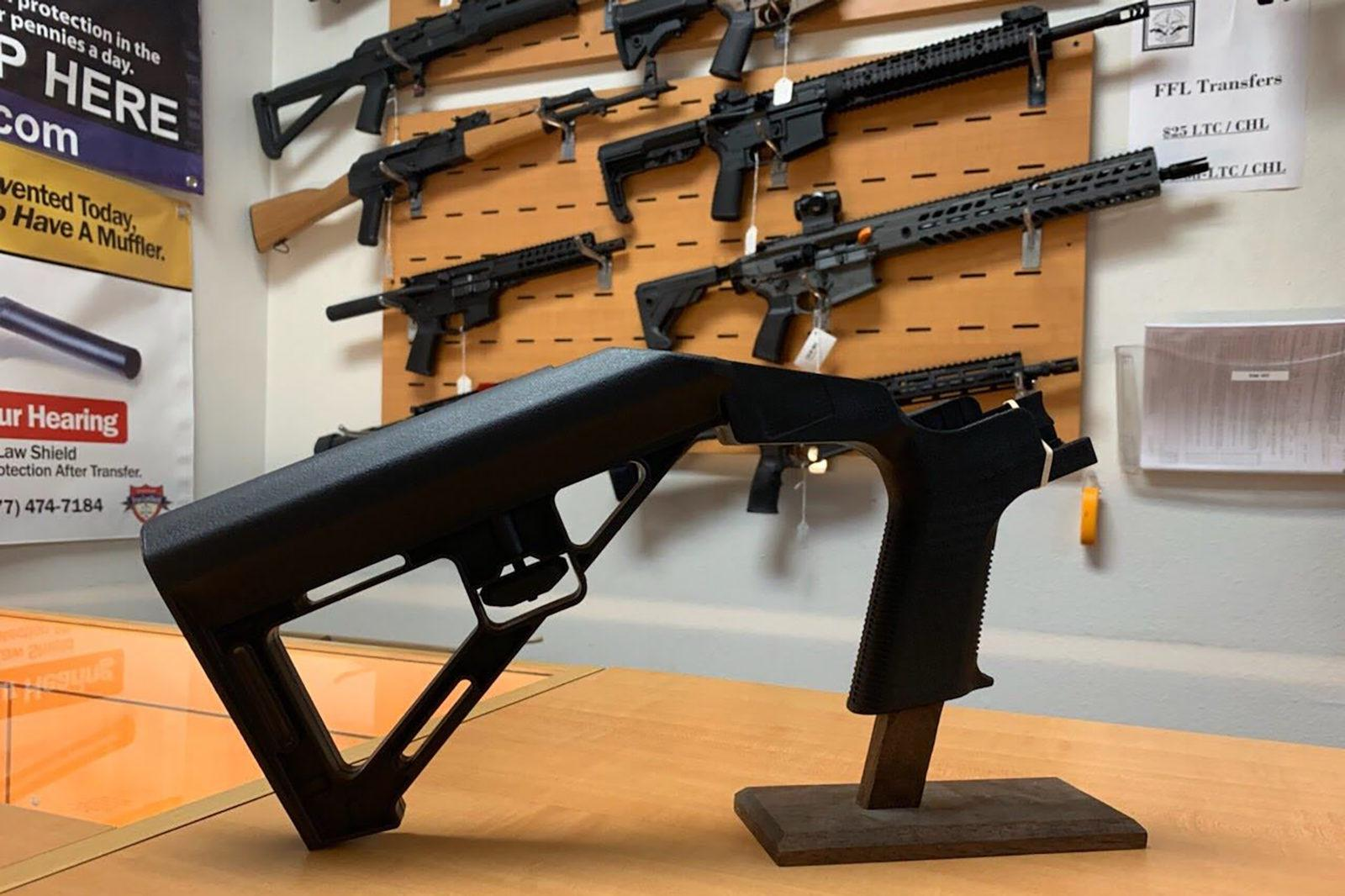 4de330281235b Bump stocks harness a gun's recoil to speed up the rate of fire. Ten states  banned the plastic attachments in the wake of a 2017 mass shooting in Las  Vegas.
