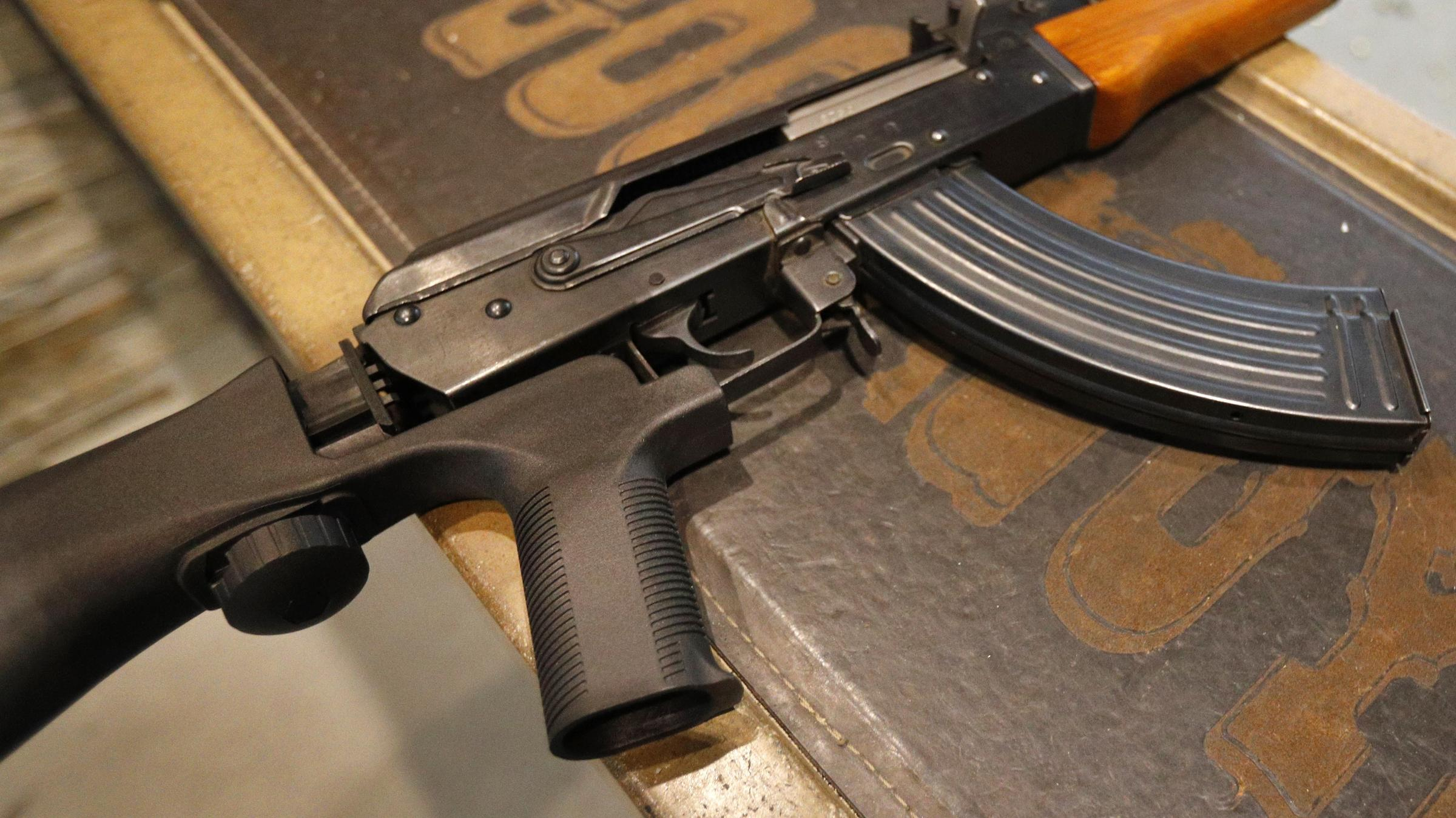 27e59db71 Bump stocks like this one installed on an AK-47 are now illegal in the  U.S., after the Trump administration changed how they are legally defined.