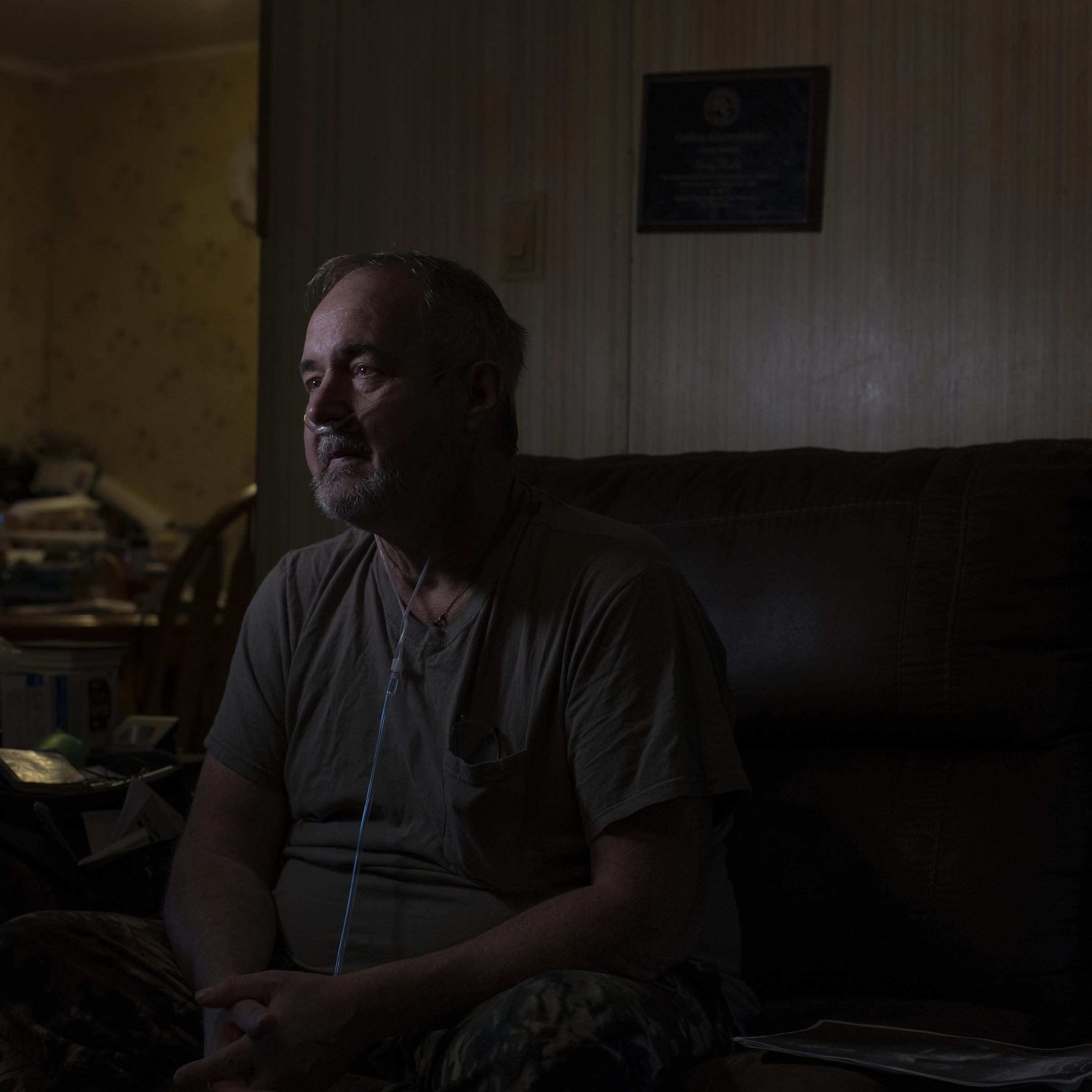 a92771d6b Greg Kelly at home in Delphia, Ky. A former coal miner, Kelly has an  advanced stage of black lung disease known as complicated black lung or  progressive ...