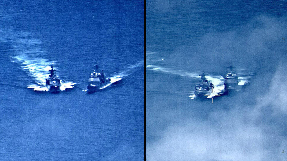 U S  Navy: Russian Warship's 'Unsafe' Move Nearly Caused Collision