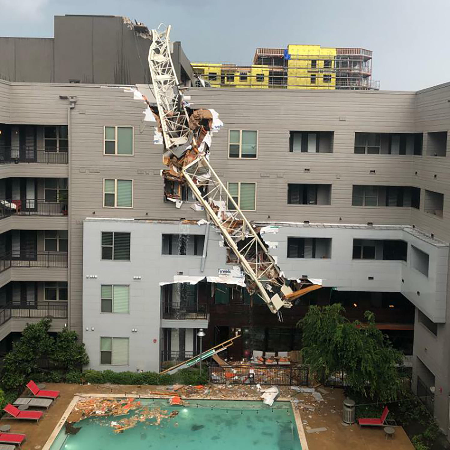 Crane Collapses In High Winds, Smashing Through Dallas