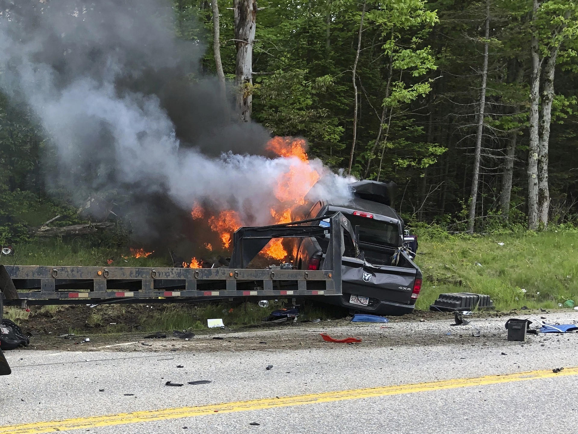 Pickup Truck In New Hampshire Collides With Marine