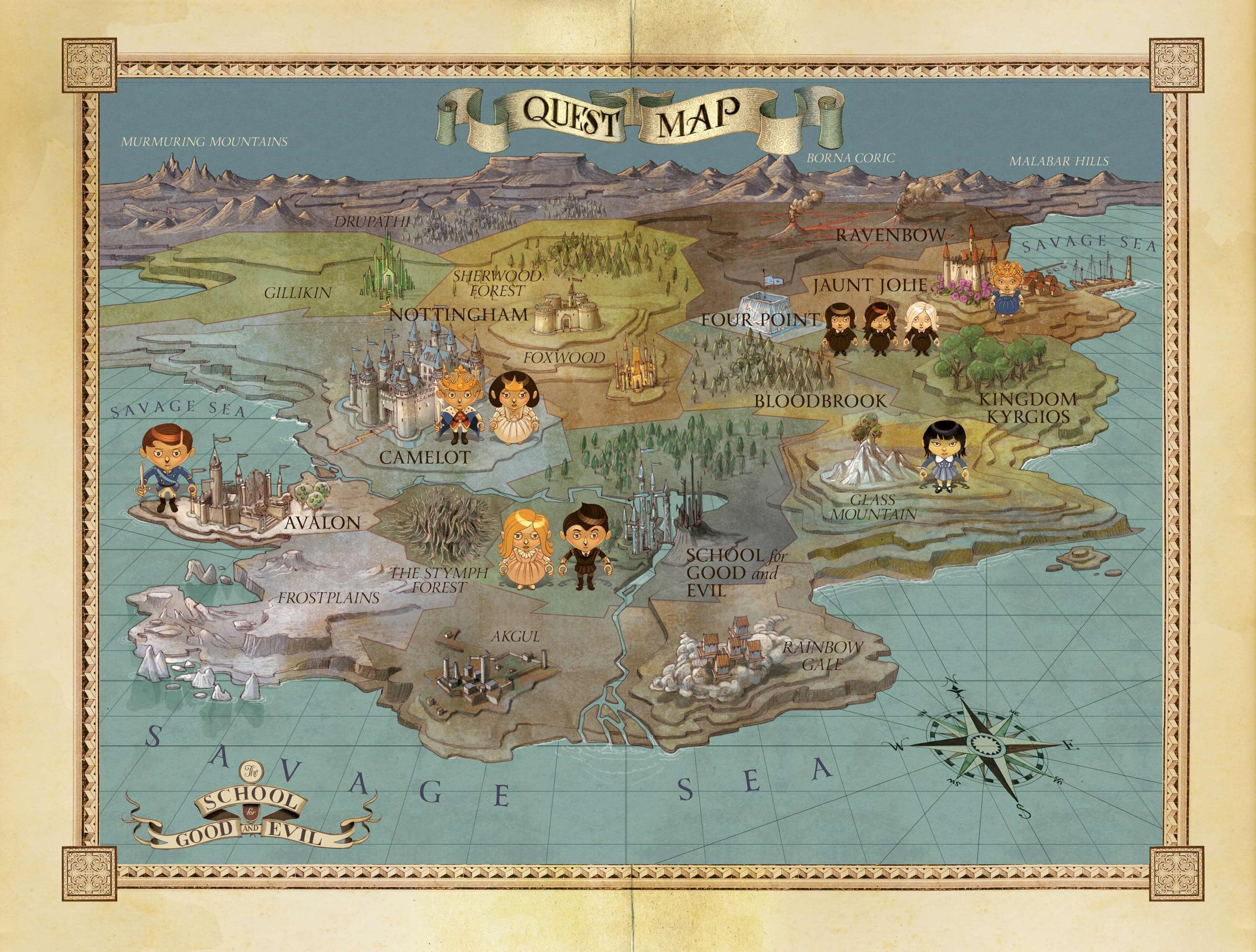 Map Of Georgia For Kids.School For Good And Evil Is A Kids Fantasy Series For The Fake