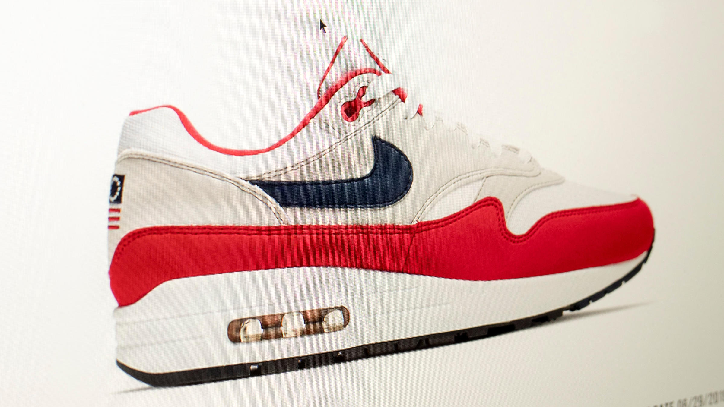 3660a951 Nike ordered a recall of its new July Fourth-themed Air Max 1 sneakers over  concerns about its Betsy Ross flag logo. Prices for the shoes rocketed on  the ...