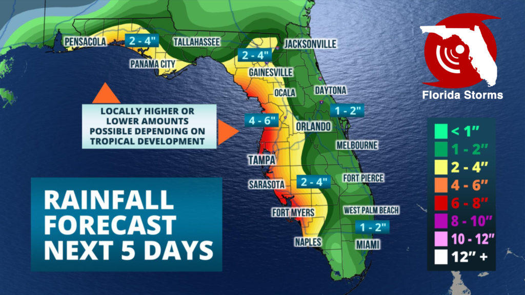 Tropical Development Likely To Drench Tampa Bay, Florida's Gulf