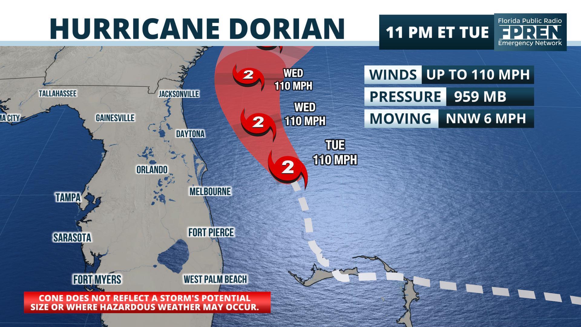 Hurricane Dorian Pounds Florida's East Coast As It Moves