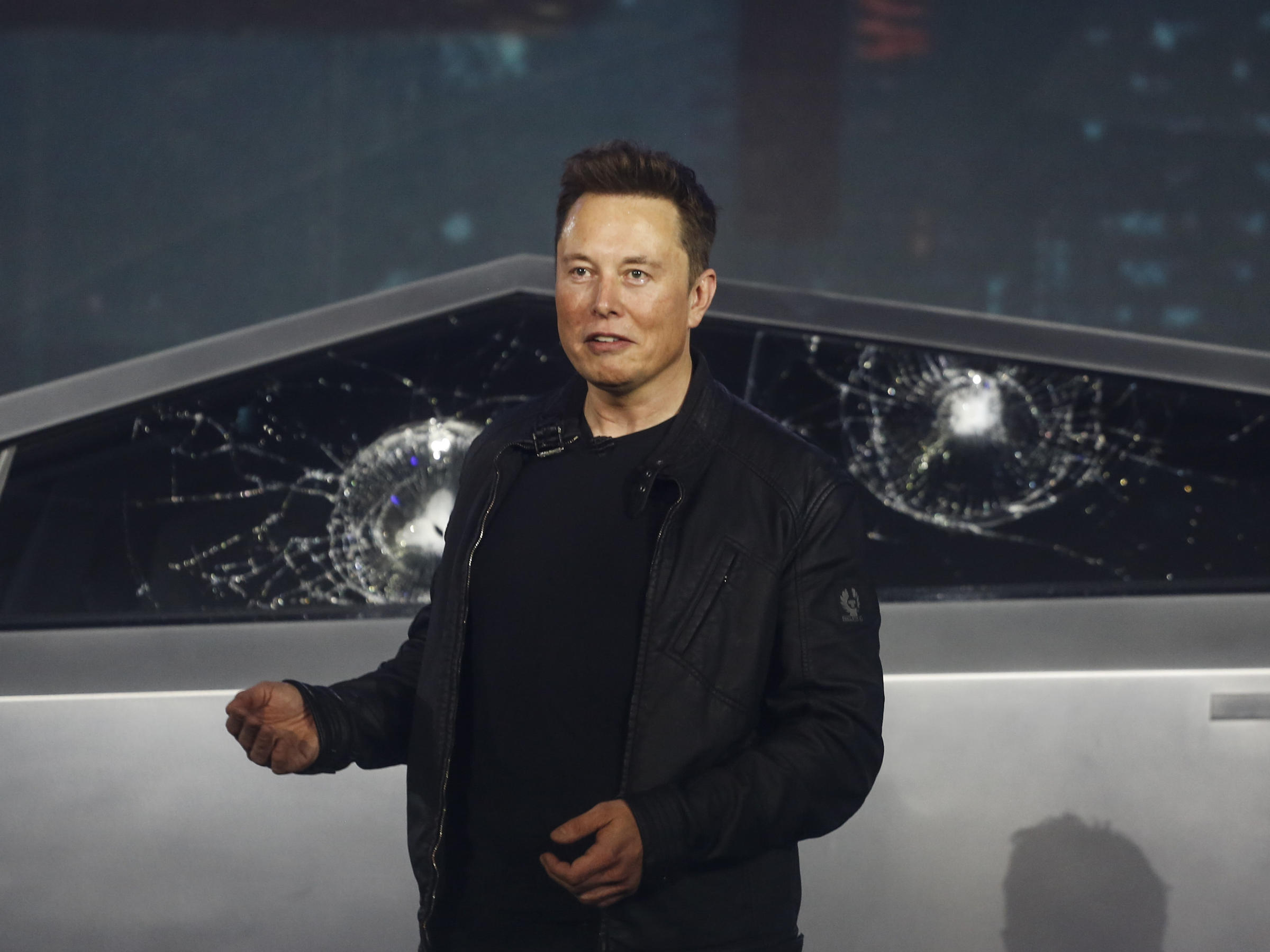 Elon Musk Unveils Tesla S Cybertruck With A Polarizing Wedge Shape Wypr