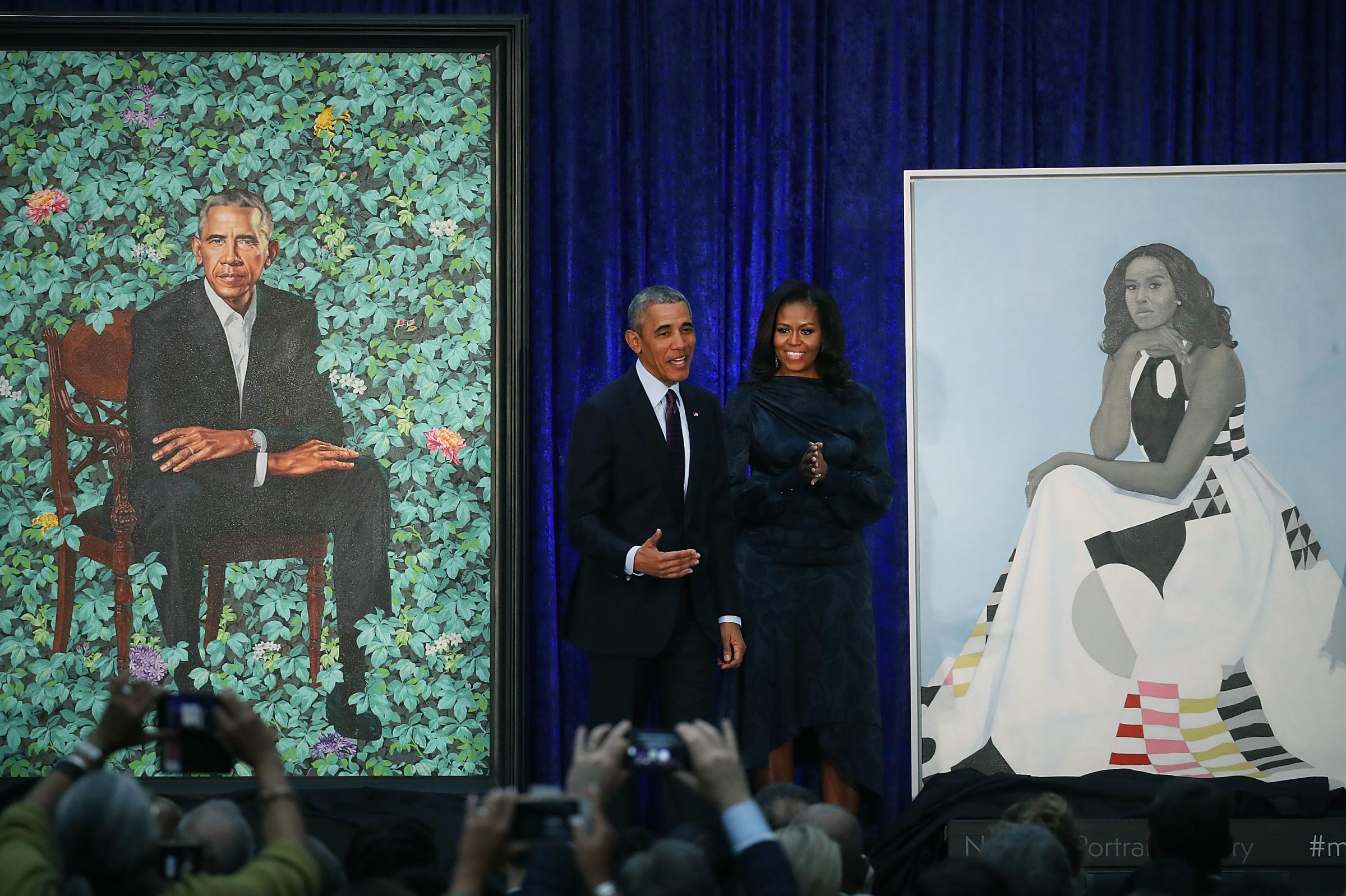 Obamas' Portraits Going On Tour Next Year