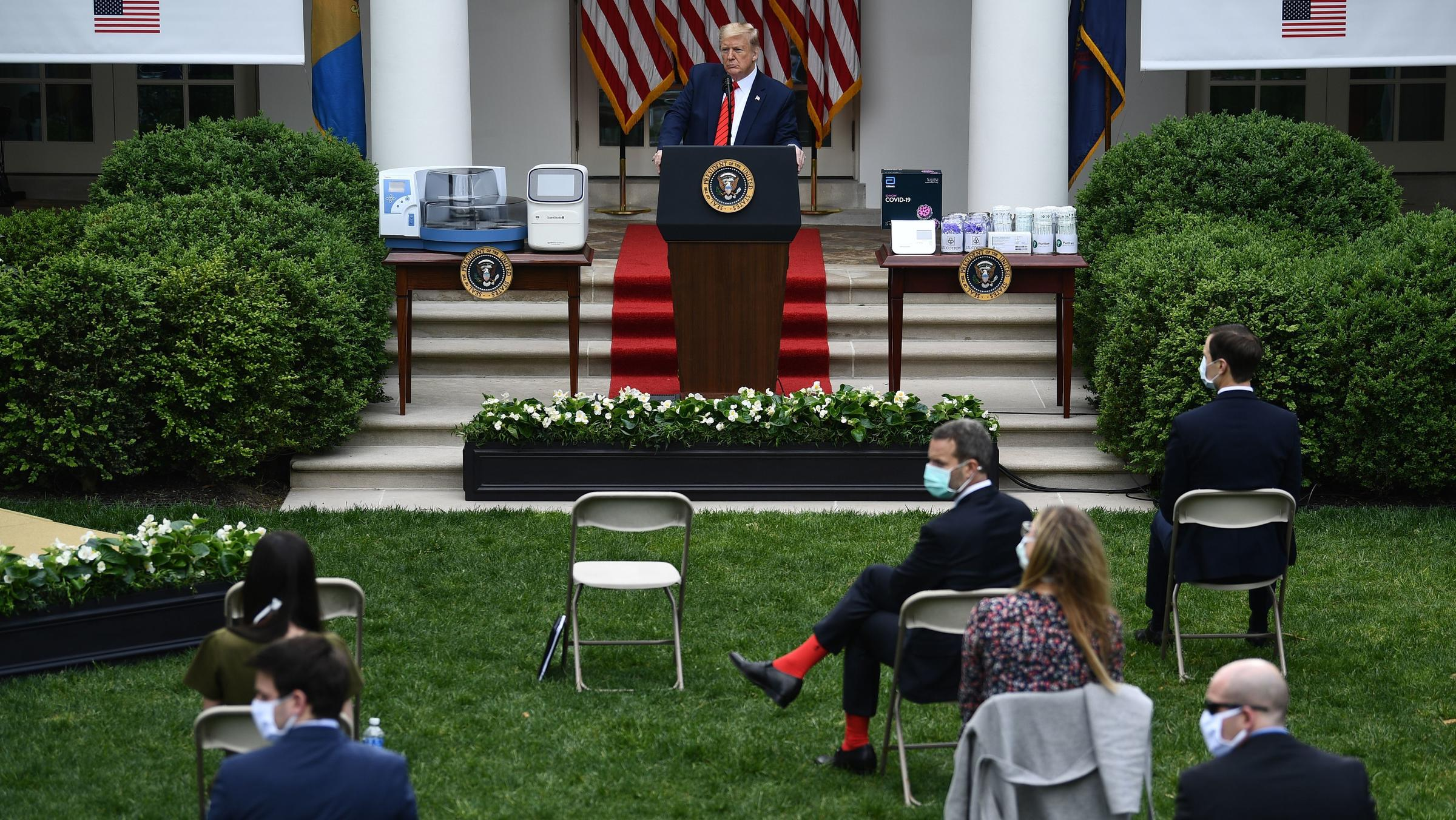 Trump brushes off White House virus outbreak concerns
