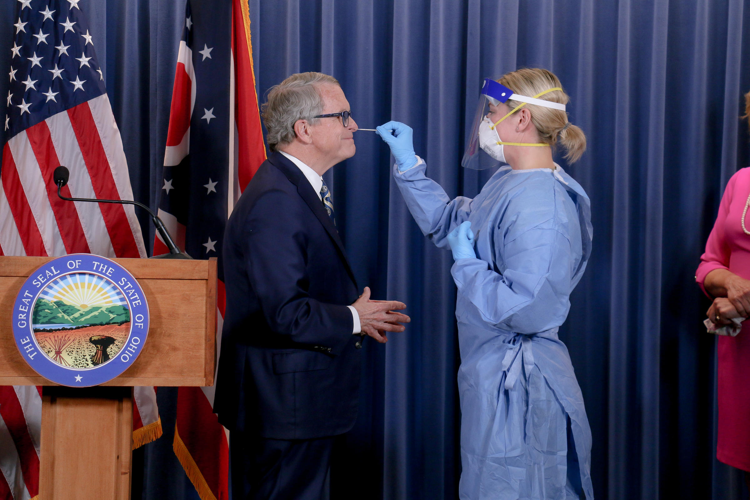 Ohio Gov. Mike DeWine tests negative for coronavirus, hours after positive result