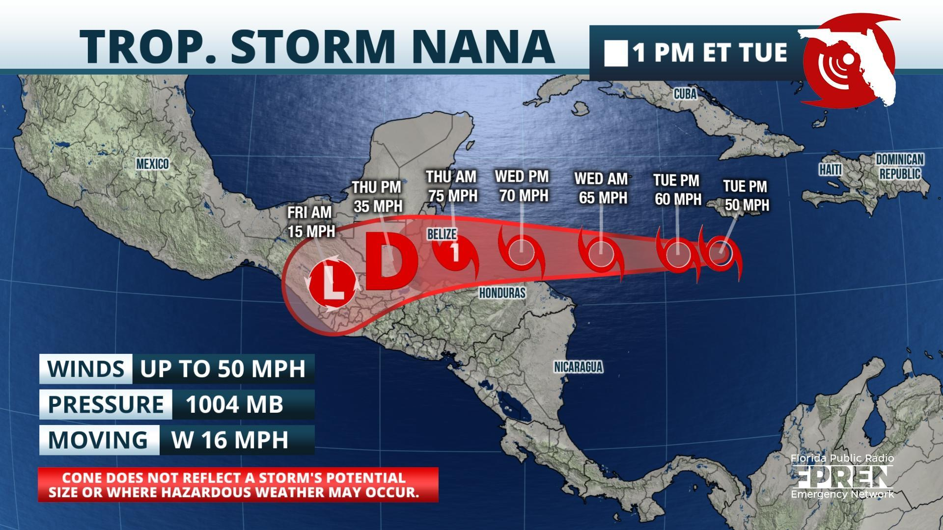 Tropical Storm Nana Forms In Caribbean Wuwf