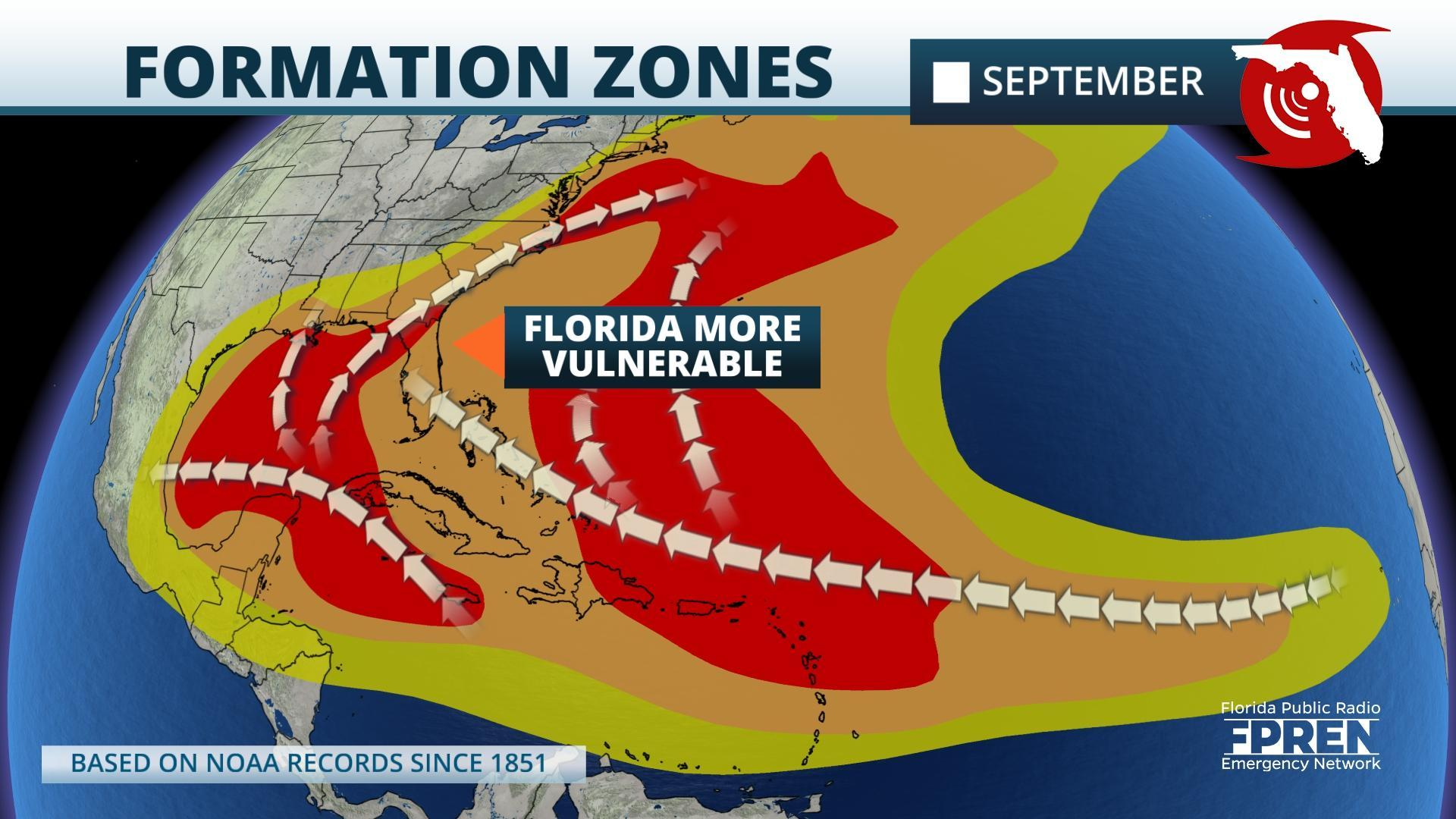 Florida Historically Becomes More Vulnerable To Hurricanes In September And October Wjct News