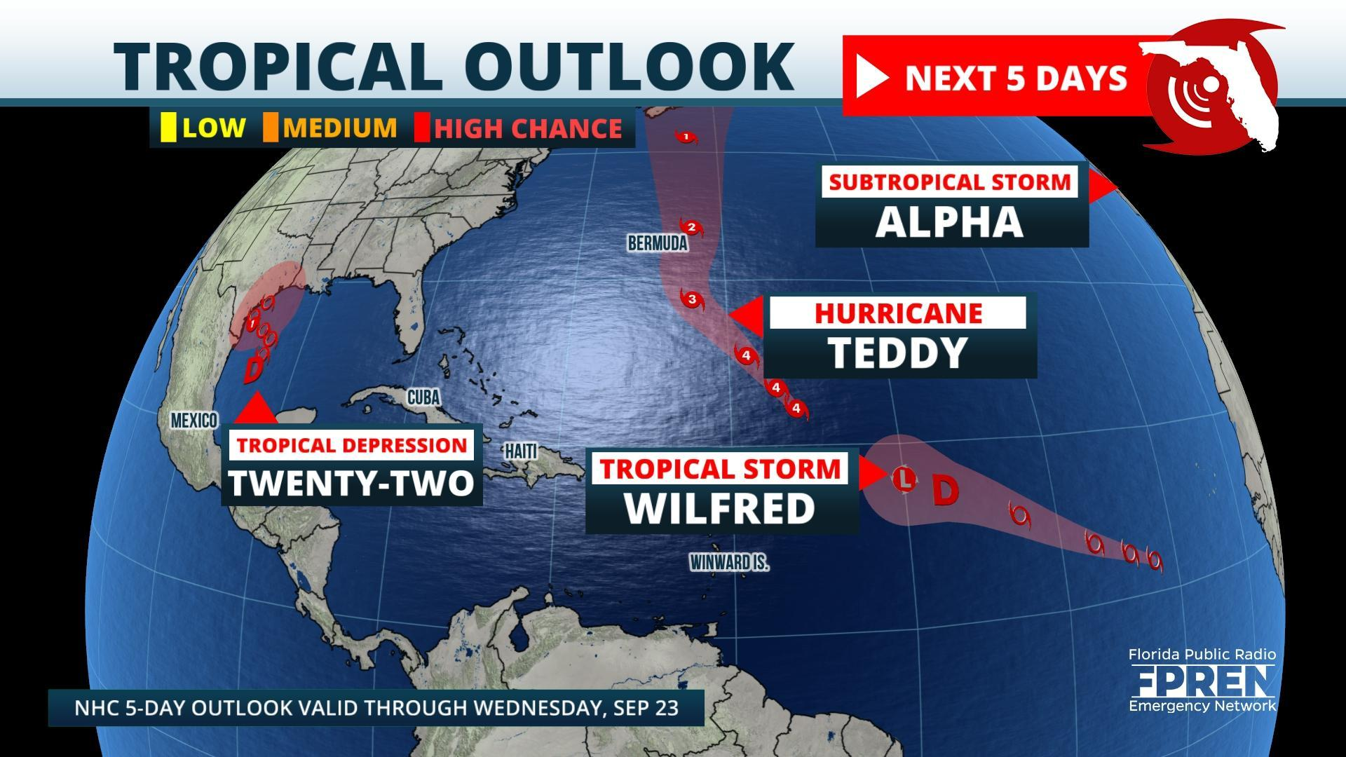 Three New Tropical Systems Form In Past 24 Hours Greek Alphabet Invoked Wjct News