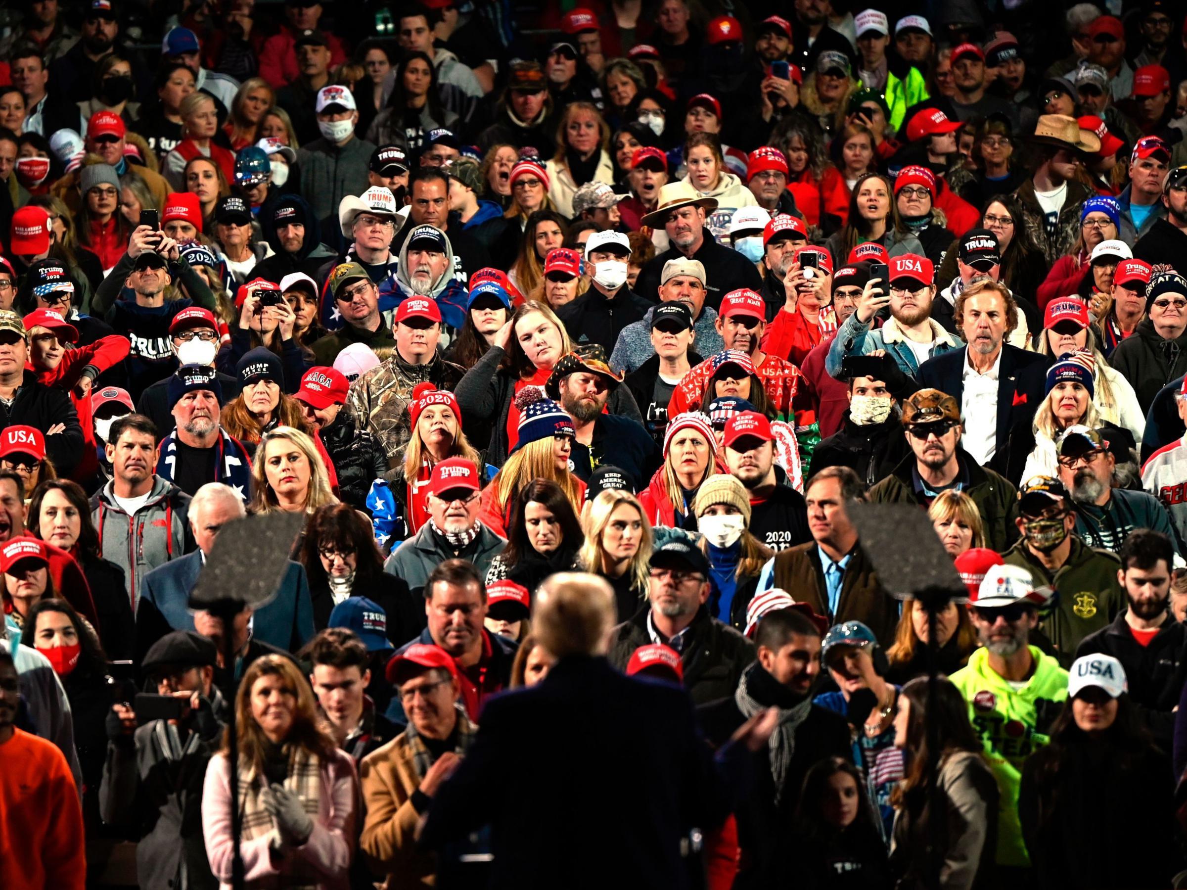 Trump repeats voter fraud claim at Georgia rally