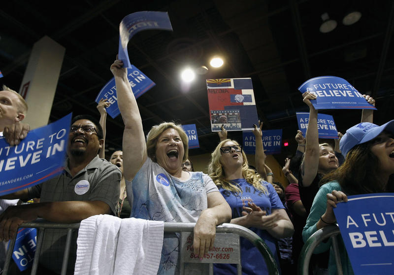 Clinton, Trump Lead In Arizona, But Sanders Not Giving Up