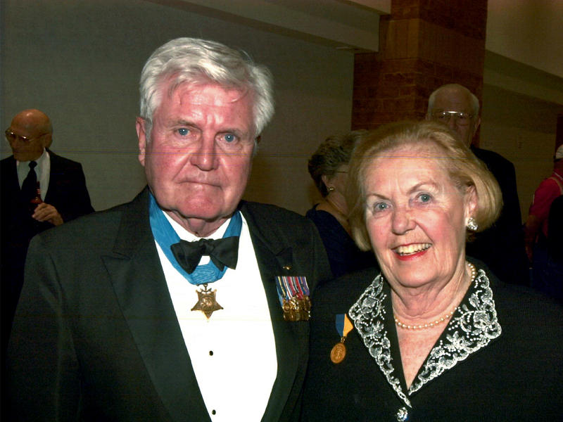 Vice Adm. James Stockdale and his wife, Sybil Stockdale, circa 1996.