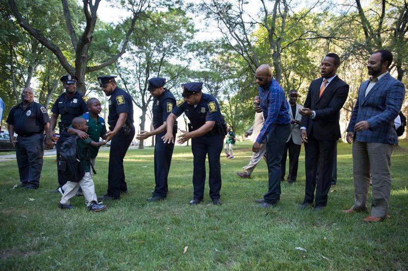 Black Men Meet And Greet Students At Hartford School