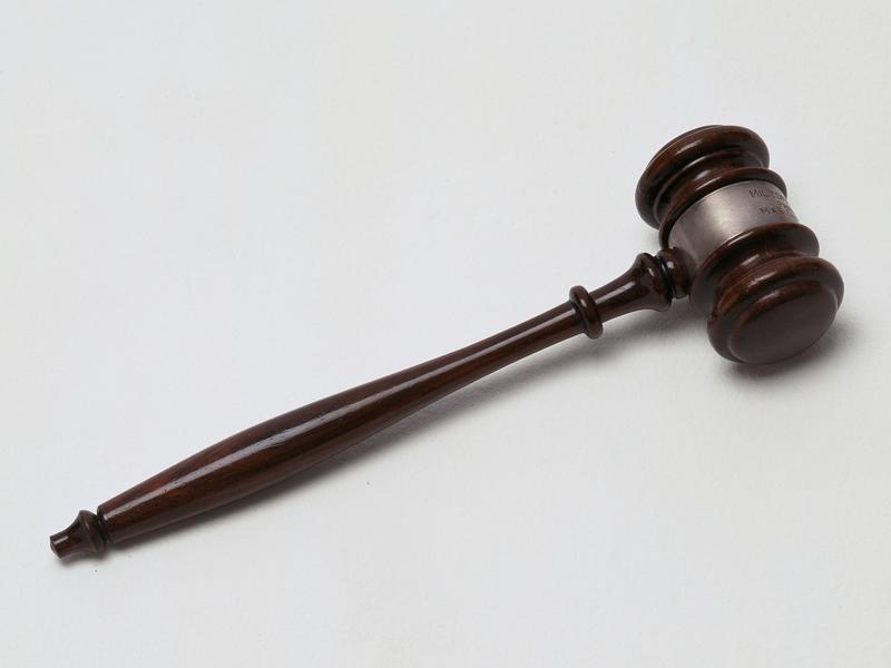 Gavel, as found in a courtroom.