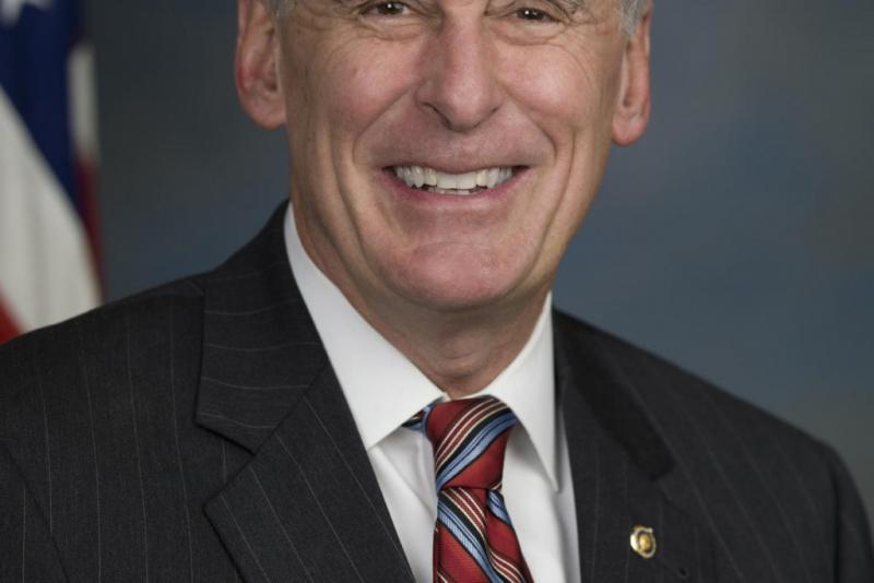 Dan Coats is pictured in the official U.S. Senate portrait from his final terms. (Courtesy U.S. Senate)