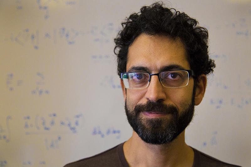 Babak Seradjeh is an associate professor of physics at Indiana University. (Peter Balonon-Rosen/Indiana Public Broadcasting)