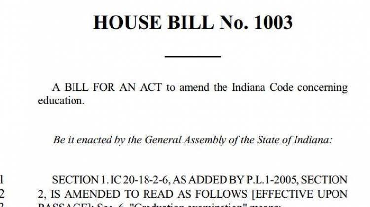 Indiana House Bill 1003